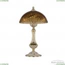 71100L/25 GW Amber/H-1K Настольная лампа под бронзу из латуни Bohemia Ivele Crystal (Богемия), 7100