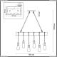 3740/6 Подвесной светильник Lumion (Люмион), Klaus