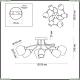 4552/6C Люстра потолочная Lumion (Люмион), Alexis