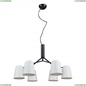 ENRIQUE SP6 BLACK/WHITE Подвесная люстра Crystal Lux (Кристал Люкс), ENRIQUE