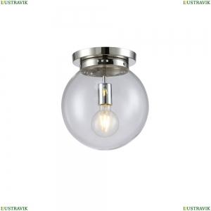 MARIO PL1 D250 NICKEL/TRANSPARENTE Потолочный светильник Crystal Lux (Кристал Люкс), MARIO