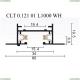 CLT 0.121 01 L1000 WH Однофазный встраиваемый шинопровод 1м. CLT 0.121 Crystal Lux (Кристал Люкс), CLT 0.121