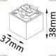 CLT 0.212 03 BL Адаптер для однофазного шинопровода CLT 0.212 Crystal Lux (Кристал Люкс), CLT 0.212