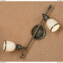 LSL-7301-02 Cпот Lussole Furlo, 2 плафона, античная бронза, белый