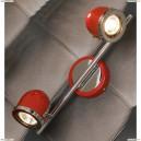 LSN-3101-02 Спот Lussole Tivoli, 2 плафона, хром с красным