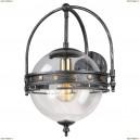 LSP-9181 Бра Lussole (Люссоль) Loft, 1 плафон, черный с серым, прозрачный