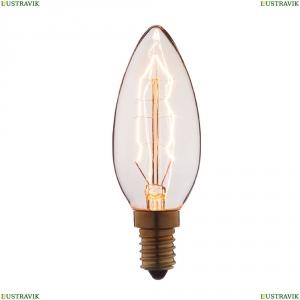 3560 Лампа накаливания E14 60W прозрачная LOFT IT (Лофт ИТ), Лампа Ретро Е14