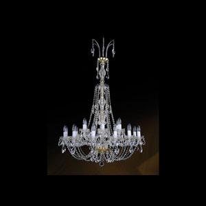 Хрустальная подвесная люстра IVELE Bohemia Crystal (Чехия) 1406.12+6.300hBIG