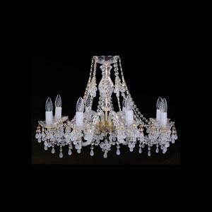 Хрустальная подвесная люстра IVELE Bohemia Crystal (Чехия) 1410.8.240(белый виноград)