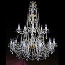 1411/12+6/400/115 Хрустальная подвесная люстра Bohemia Ivele Crystal (Богемия)