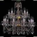 1413/10+5/220-60/G Хрустальная подвесная люстра Bohemia Ivele Crystal (Богемия)
