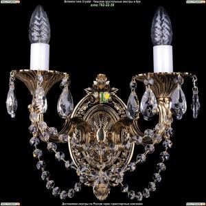 1700/2/C/GB Бра с элементами художественного литья и хрусталем Bohemia Ivele Crystal (Богемия)