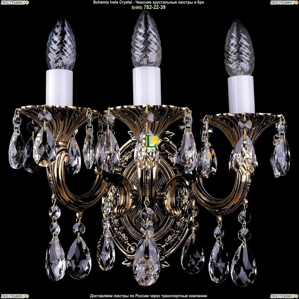 1700/3/A/GB Бра с элементами художественного литья и хрусталем Bohemia Ivele Crystal (Богемия)
