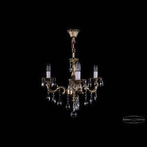 Хрустальная подвесная люстра IVELE Bohemia Crystal (Чехия) 1701.3.B.GB