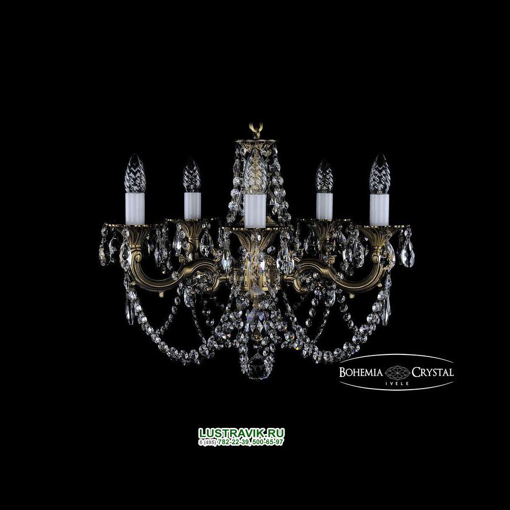 Хрустальная подвесная люстра IVELE Bohemia Crystal (Чехия) 1701.5.C FP