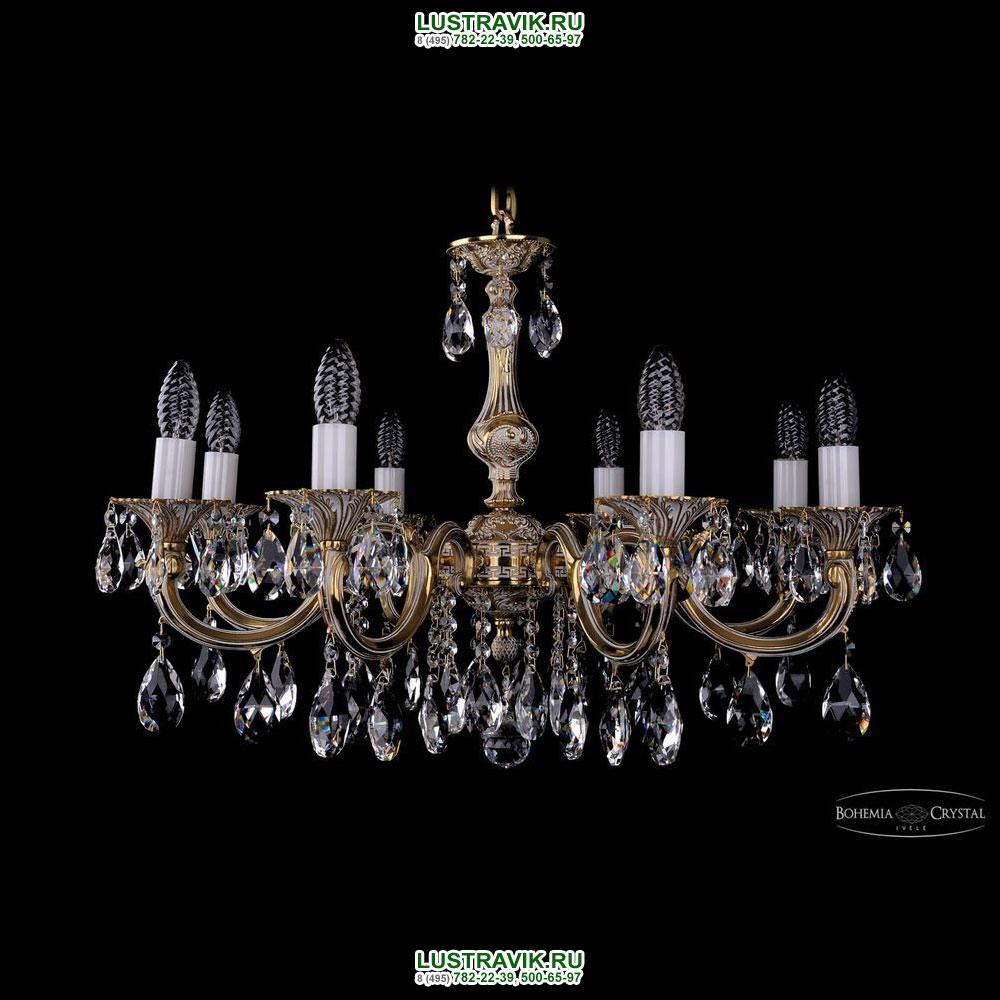 Хрустальная подвесная люстра IVELE Bohemia Crystal (Чехия) 1702.8.A.GW