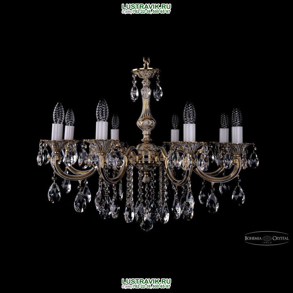 Хрустальная подвесная люстра IVELE Bohemia Crystal (Чехия) 1702.8.B.GW