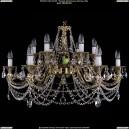 1703/12/C/G Хрустальная подвесная люстра Bohemia Ivele Crystal (Богемия)
