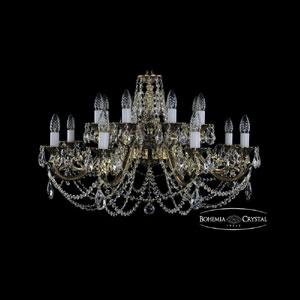 Хрустальная подвесная люстра IVELE Bohemia Crystal (Чехия) 1703.16.C.GB