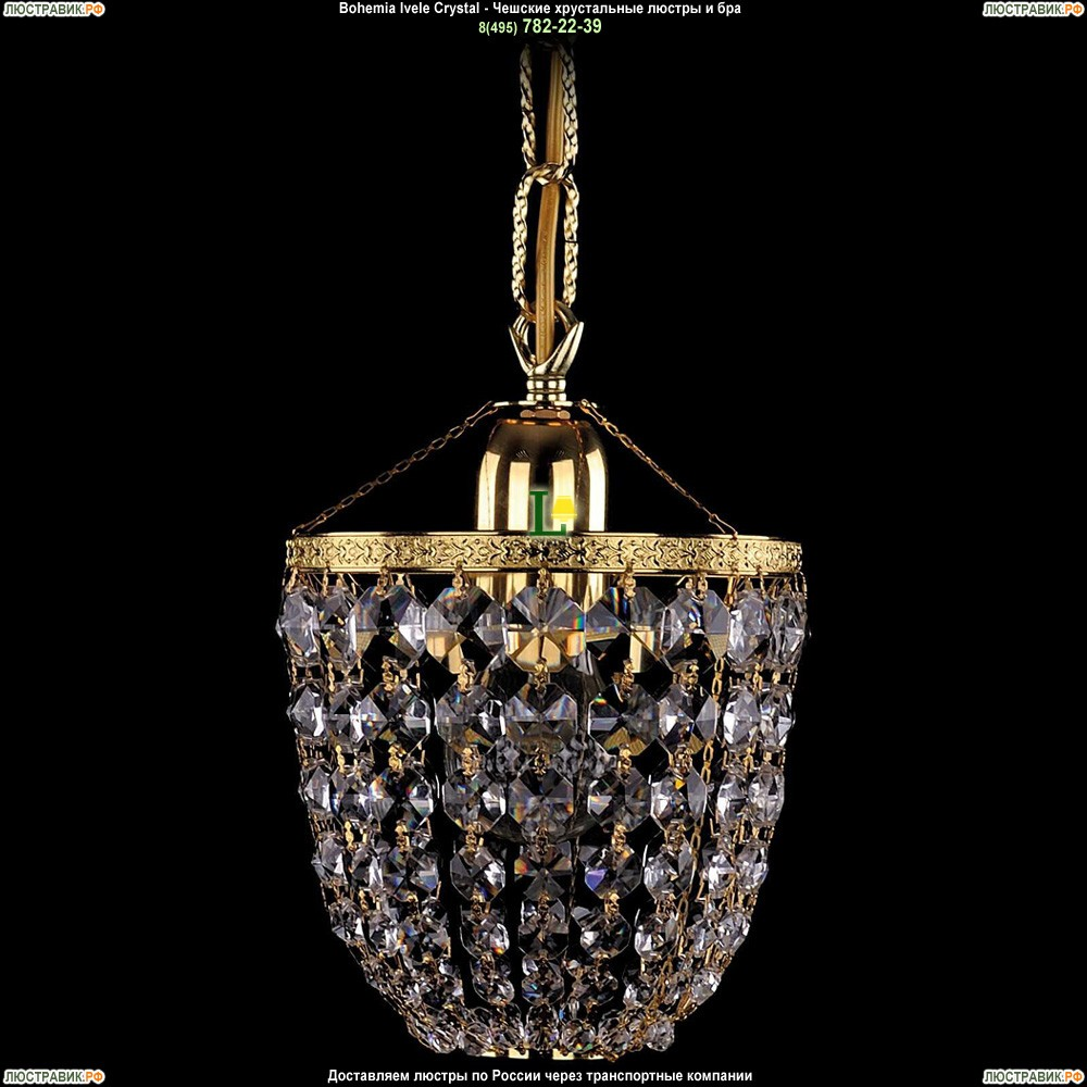 1927/15/G Хрустальная подвесная люстра Bohemia Ivele Crystal (Богемия)