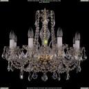 1411/8/195/G/Leafs Хрустальная подвесная люстра Bohemia Ivele Crystal (Богемия)