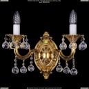1700/2/A/G/Balls Бра с элементами художественного литья и хрусталем Bohemia Ivele Crystal (Богемия)