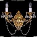 1700/2/C/G/Balls Бра с элементами художественного литья и хрусталем Bohemia Ivele Crystal (Богемия)
