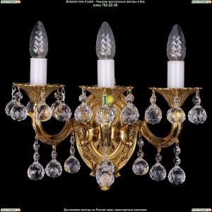 1700/3/A/G/Balls Бра с элементами художественного литья и хрусталем Bohemia Ivele Crystal (Богемия)