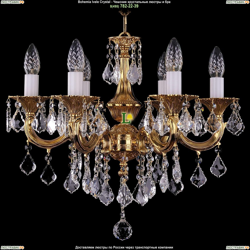 1701/6/B/G/Leafs Подвесная люстра Bohemia Ivele Crystal (Богемия)