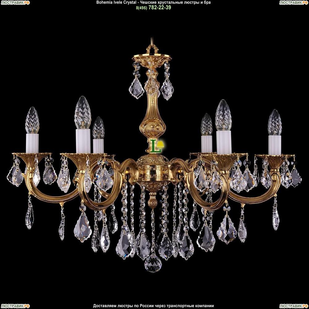 1702/6/B/G/Leafs Подвесная люстра Bohemia Ivele Crystal (Богемия)