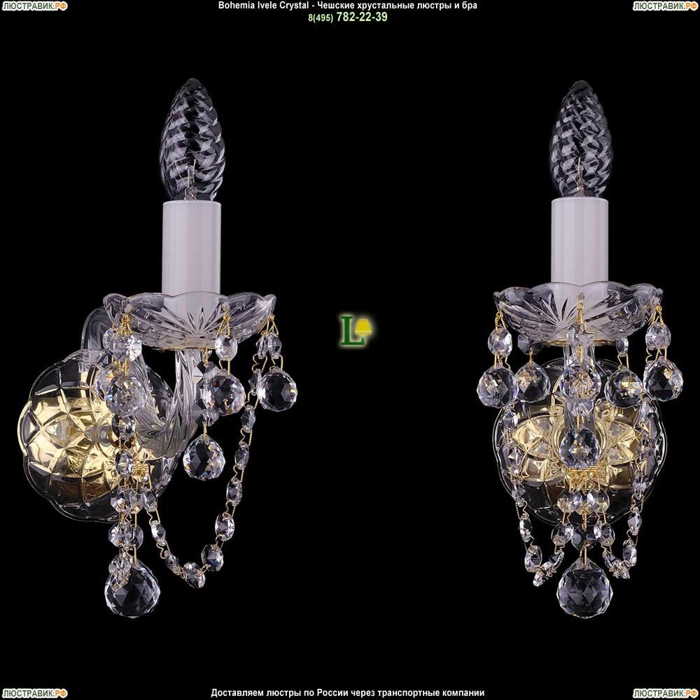 1400/1/G/Balls Хрустальная бра Bohemia Ivele Crystal (Богемия)