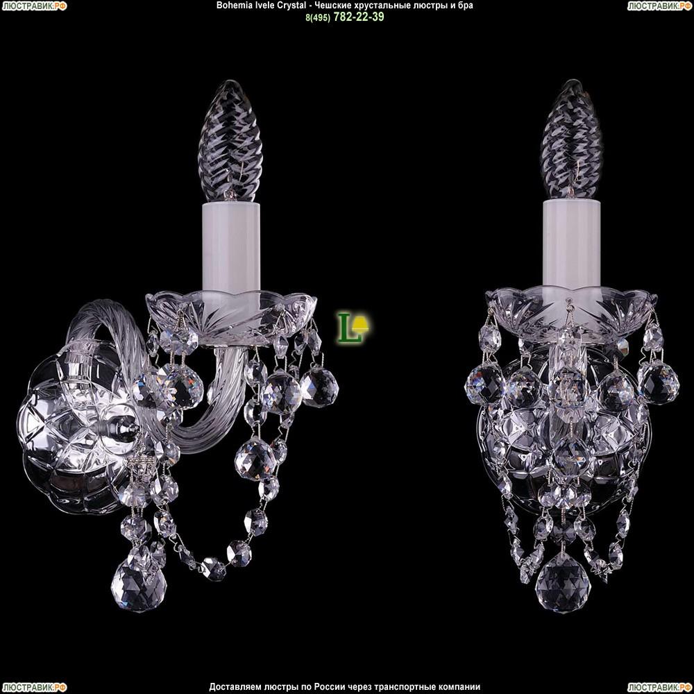 1400/1/Ni/Balls Хрустальная бра Bohemia Ivele Crystal (Богемия)
