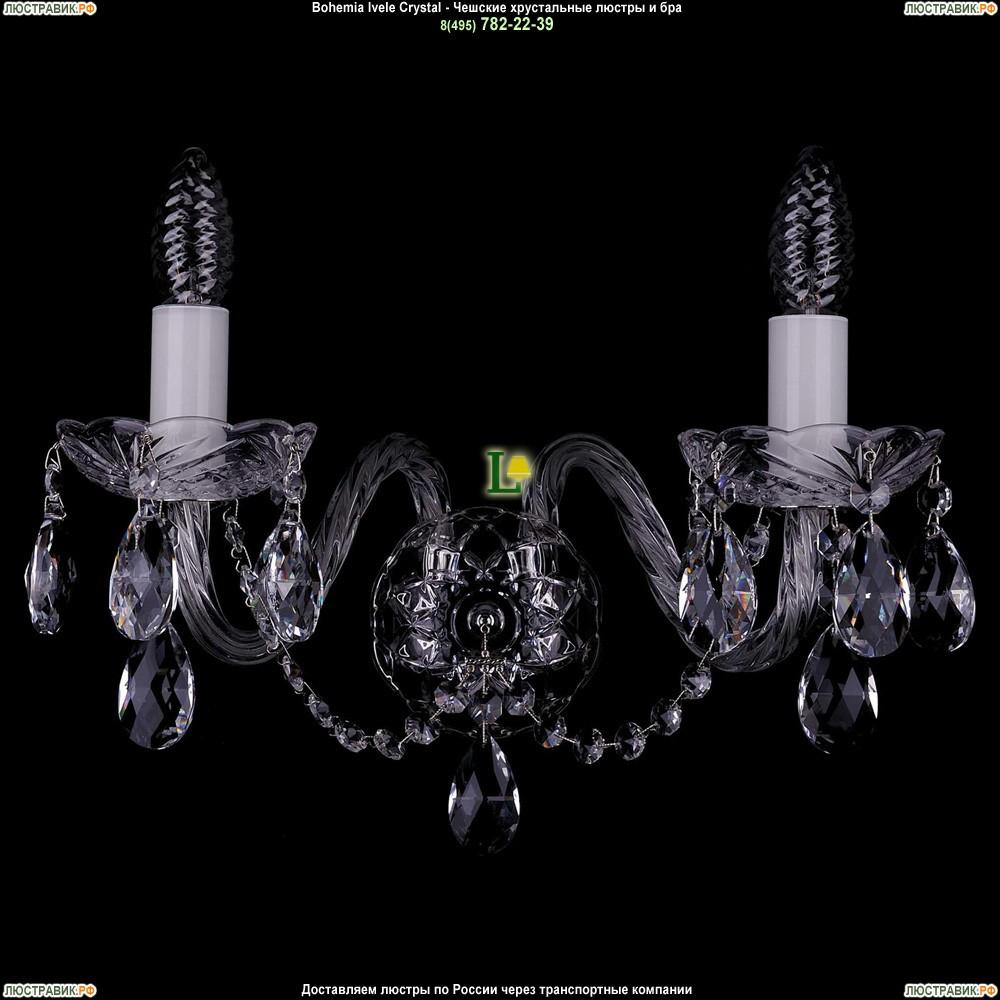 1400/2/Big/Ni Хрустальная бра Bohemia Ivele Crystal (Богемия)