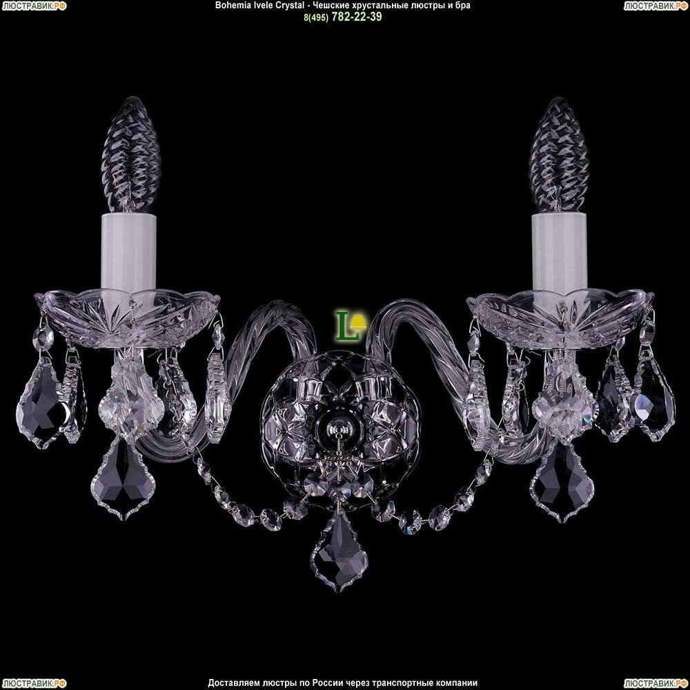 1400/2/Big/Ni/Leafs Хрустальная бра Bohemia Ivele Crystal (Богемия)