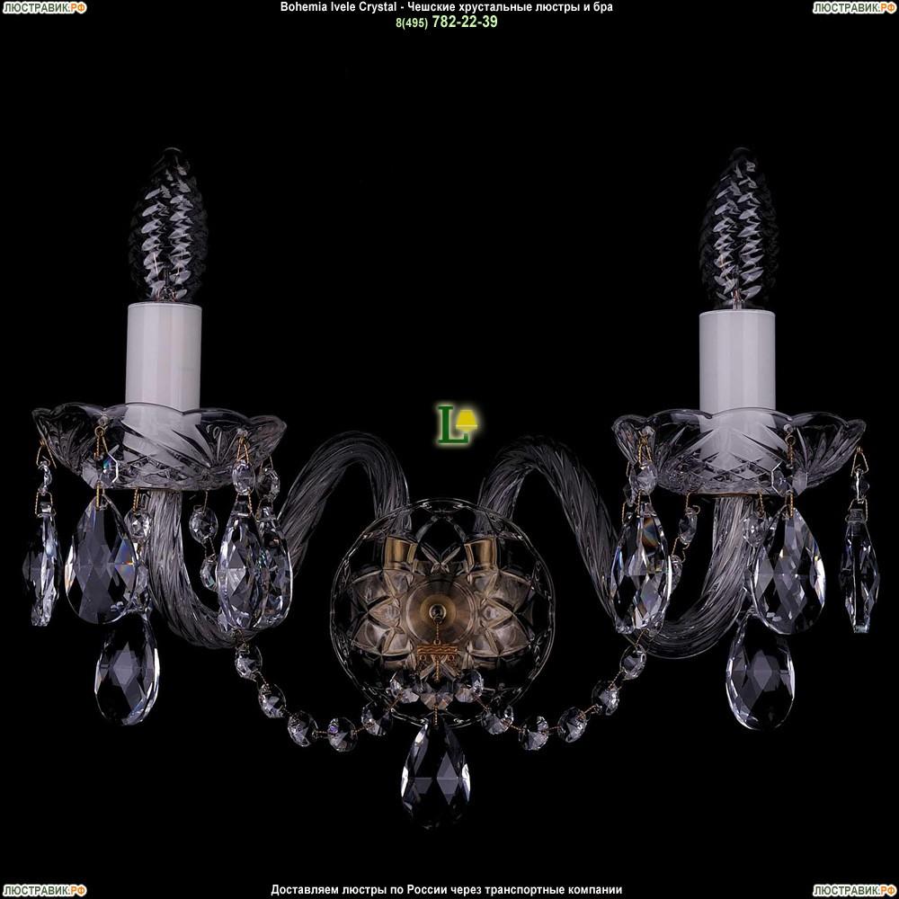 1400/2/Big/Pa Хрустальная бра Bohemia Ivele Crystal (Богемия)