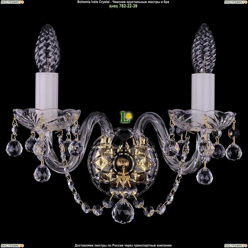1400/2/G/Balls Хрустальная бра Bohemia Ivele Crystal (Богемия)