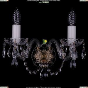 1400/2/Pa Хрустальная бра Bohemia Ivele Crystal (Богемия)