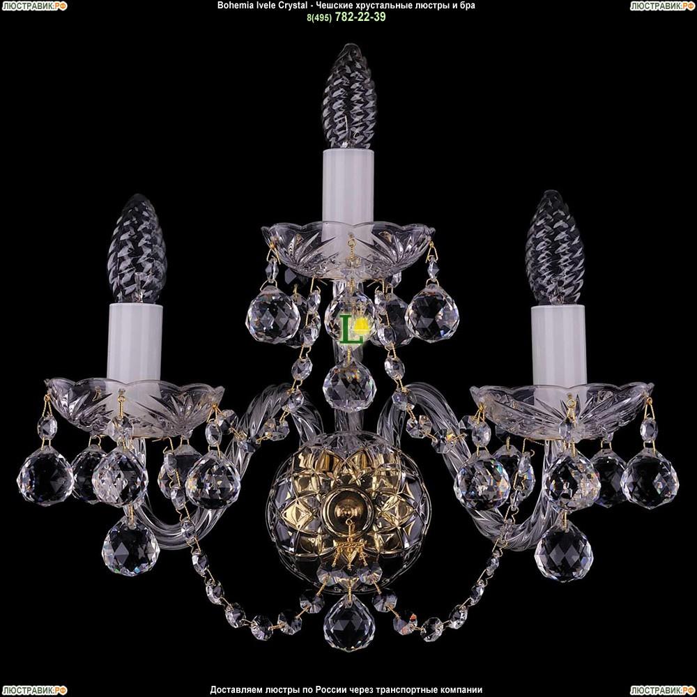 1400/3/Big/G/Balls Хрустальная бра Bohemia Ivele Crystal (Богемия)