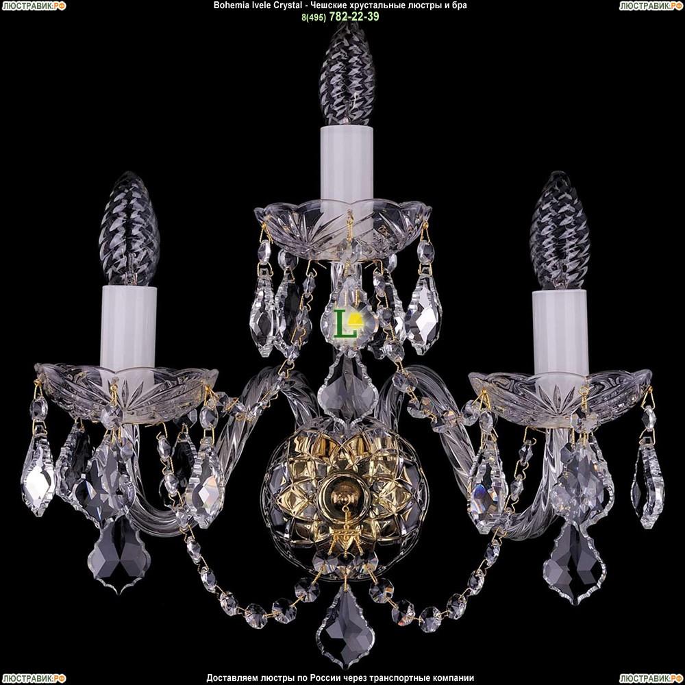 1400/3/Big/G/Leafs Хрустальная бра Bohemia Ivele Crystal (Богемия)