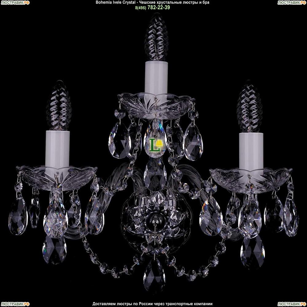 1400/3/Big/Ni Хрустальная бра Bohemia Ivele Crystal (Богемия)
