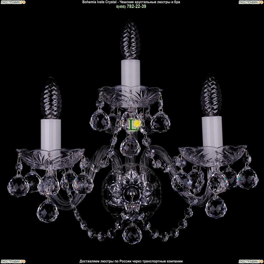1400/3/Big/Ni/Balls Хрустальная бра Bohemia Ivele Crystal (Богемия)