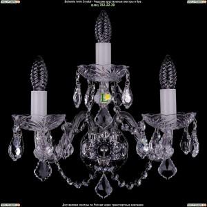1400/3/Big/Ni/Leafs Хрустальная бра Bohemia Ivele Crystal (Богемия)