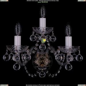 1400/3/Big/Pa/Balls Хрустальная бра Bohemia Ivele Crystal (Богемия)
