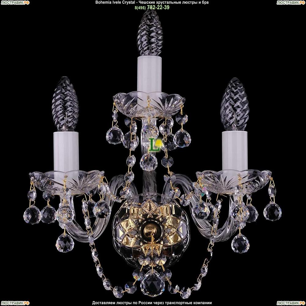 1400/3/G/Balls Хрустальная бра Bohemia Ivele Crystal (Богемия)