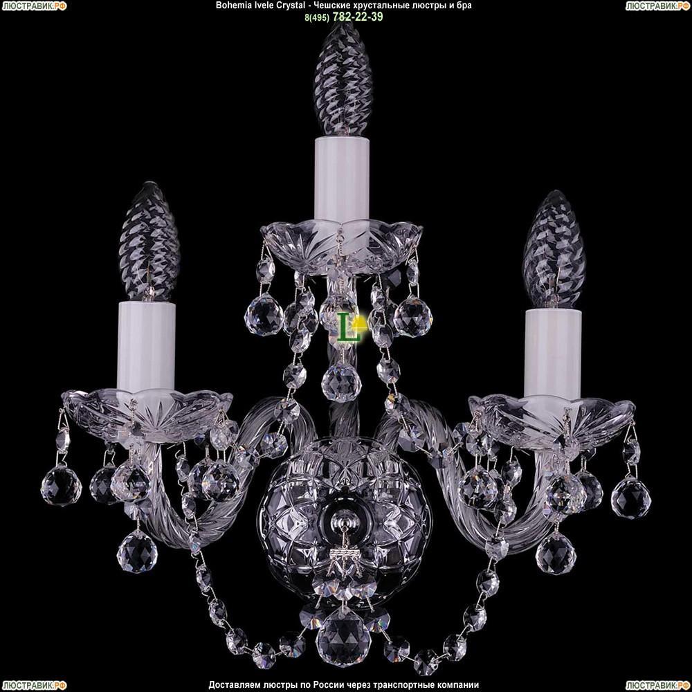 1400/3/Ni/Balls Хрустальная бра Bohemia Ivele Crystal (Богемия)