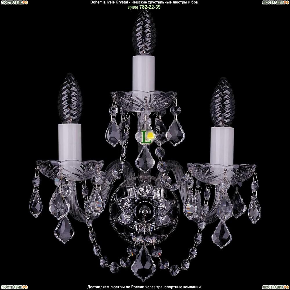 1400/3/Ni/Leafs Хрустальная бра Bohemia Ivele Crystal (Богемия)