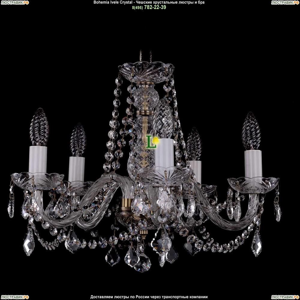 1402/5/160/Pa/Leafs Хрустальная подвесная люстра Bohemia Ivele Crystal (Богемия)