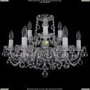 1402/6+3/195/Ni/Balls Хрустальная подвесная люстра Bohemia Ivele Crystal (Богемия)