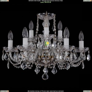 1402/6+3/195/Pa/Leafs Хрустальная подвесная люстра Bohemia Ivele Crystal (Богемия)