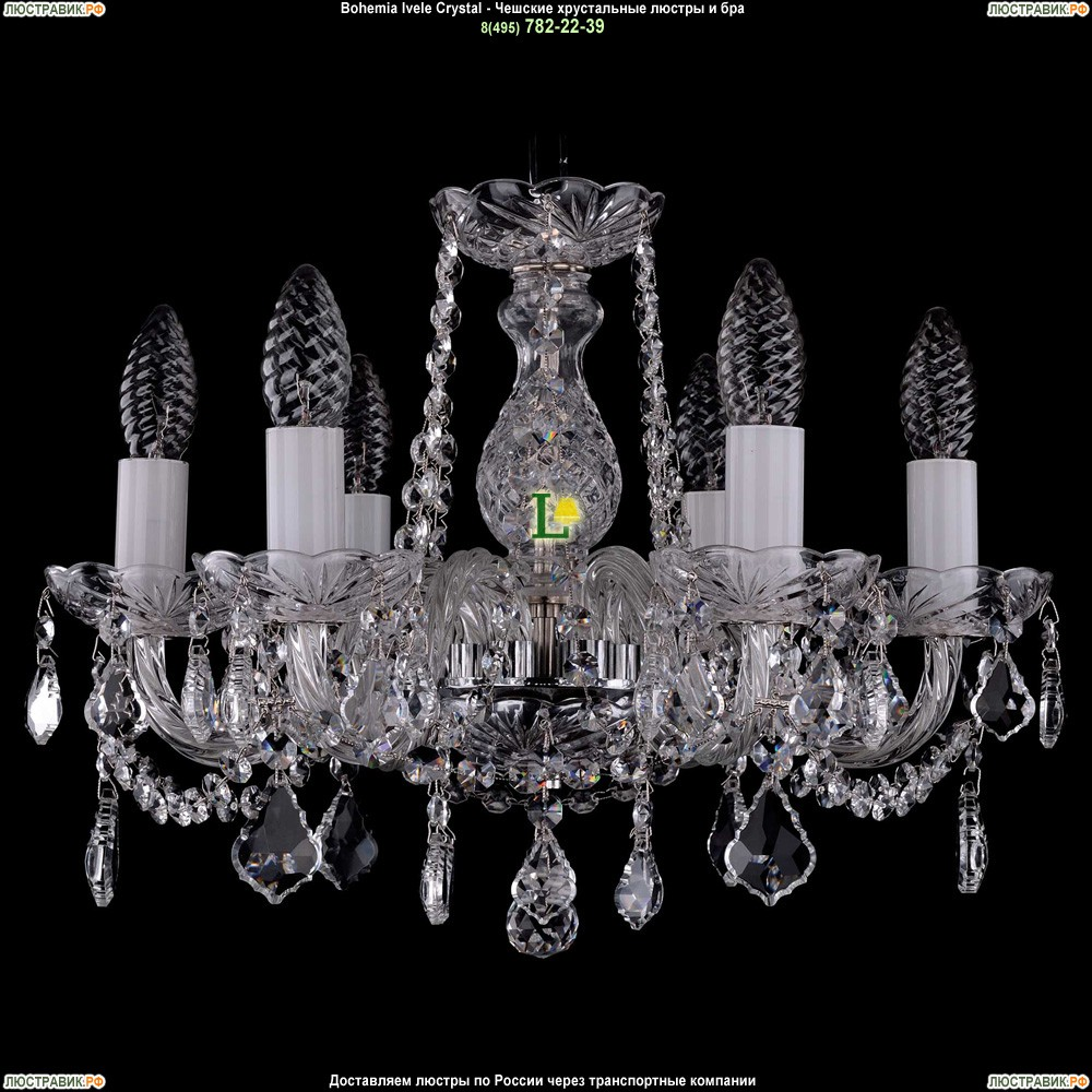 1402/6/141/Ni/Leafs Хрустальная подвесная люстра Bohemia Ivele Crystal (Богемия)